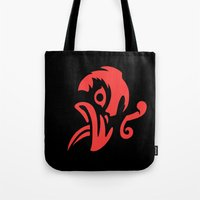 bioshock infinite Tote Bags featuring Bioshock Infinite Vigors - Murder Of Crows by GunnerGrump