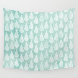 Big Drops Blush Blue Wall Tapestry