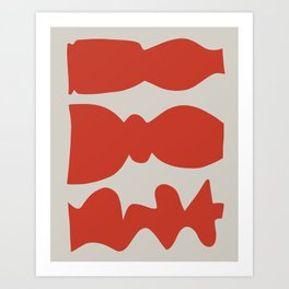 Three Candlesticks Modern Still Life Art Print