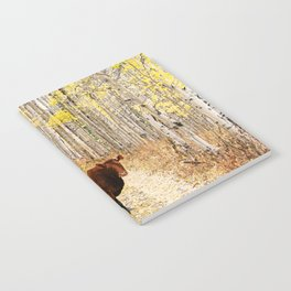 Cow in aspens Notebook