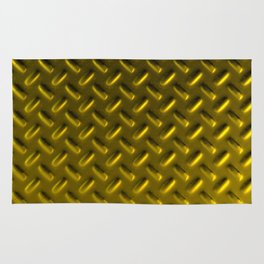 Dirty checkered gold plate Rug