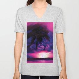 Whimsical Sunset Unisex V-Neck