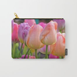 Spring Pastel Tulips Carry-All Pouch