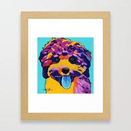 Bichon Poodle Pop Art Framed Art Print