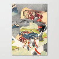 catcher in the rye Canvas Prints featuring Catcher in the Rye by all2