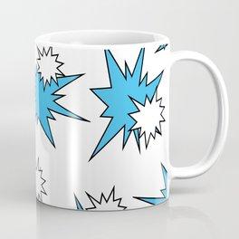 Stars (Blue & White on White) Coffee Mug