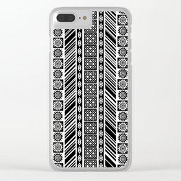 Black and White Adinkra Symbol African Print Pattern Clear iPhone Case