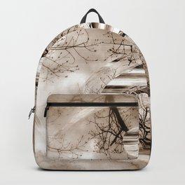 Yin Yang softness and sepia Backpack