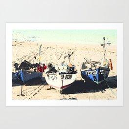 Boats, Cornwall Art Print