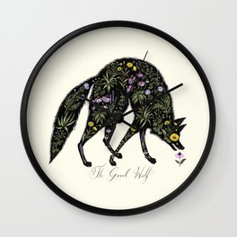 The Good Wolf Wall Clock