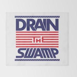 Drain the Swamp - MAGA! Throw Blanket