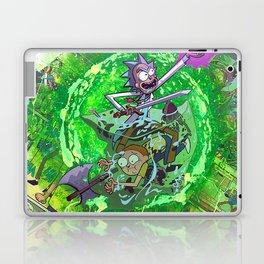 Rick & M - Dungeons and Dragons Comic Collage Portal Comic Book Art Laptop & iPad Skin
