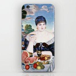 Boris Kustodiev - Merchants Wife At Tea iPhone Skin