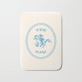Yee Haw in Blue Bath Mat