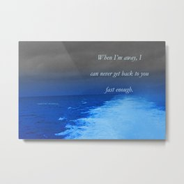 Catalina Jet At 43 Knots. Poem: Fast Enough Metal Print