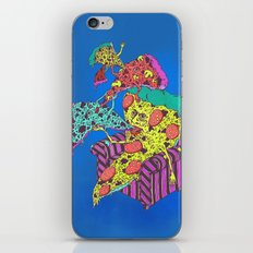 Pizza Eating Pizza - Blue Edition iPhone Skin