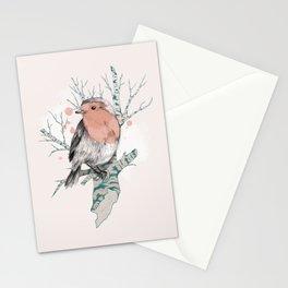 Robin on Birch Stationery Cards