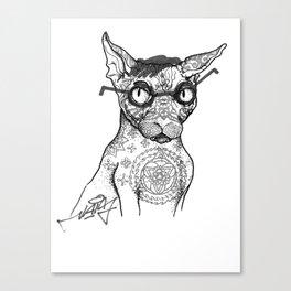 Tattoo cat Canvas Print