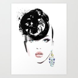 Fashion Painting #6 Art Print