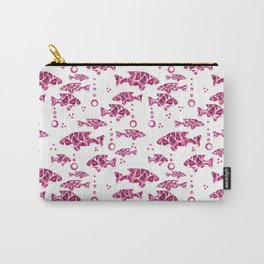 Raspberry pink fish. Carry-All Pouch