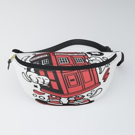 Police Box Skaterfor animated characters comics and pop culture lovers Fanny Pack