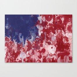America Graffiti Canvas Print