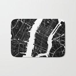 New York City Black On White Bath Mat