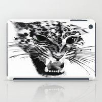 snow leopard iPad Cases featuring Snow Leopard by pbnevins
