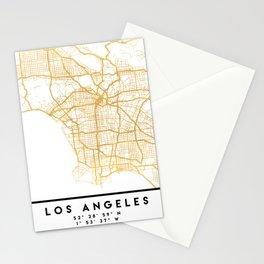 LOS ANGELES CALIFORNIA CITY STREET MAP ART Stationery Cards