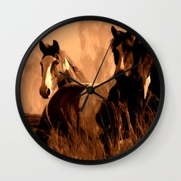 Horse Spirits Wall Clock