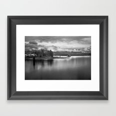 a view of stanley's park Framed Art Print