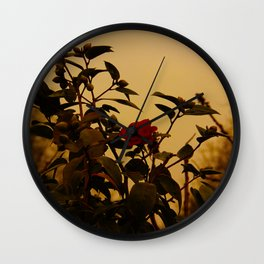 Winter rose Wall Clock