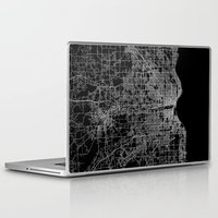 milwaukee Laptop & iPad Skins featuring milwaukee map by Line Line Lines