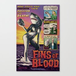 Fins of Blood Canvas Print
