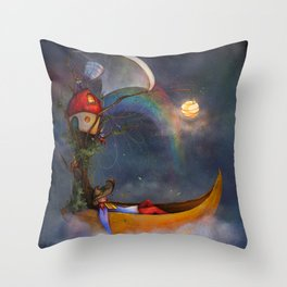 The daysleeper and his companions Throw Pillow