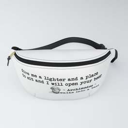 Archimedes Walks Into A Bar #1 Fanny Pack