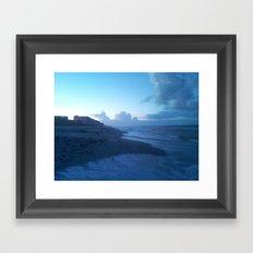 Ocean Breeze Blue Framed Art Print