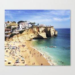 Praia de Carvoeiro, Algarve, Portugal - Deep blue waters Canvas Print