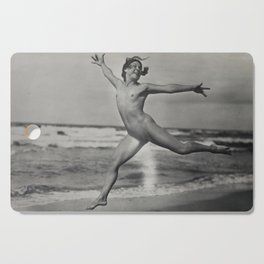 Victorian Vintage Posing Lady Erotic French Nude On Beach Cutting Board