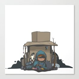 Cardboard Castle Canvas Print
