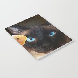 Wishful Thinking 2 - Siamese Cat Art - Sharon Cummings Notebook