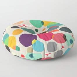Lotus in koi pond Floor Pillow