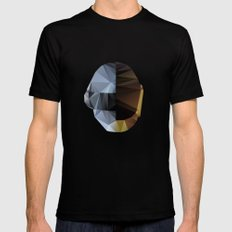 Daft Punk Polygon Black LARGE Mens Fitted Tee