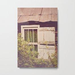 Antique Window Metal Print