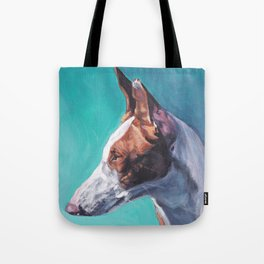 Ibizan Hound dog art portrait from an original painting by L.A.Shepard Tote Bag