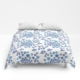 Scattered Hydrangeas on white Comforters