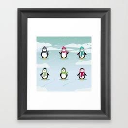 AFE Festive Penguins Framed Art Print