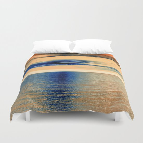 Sunset at Sea 07 Duvet Cover