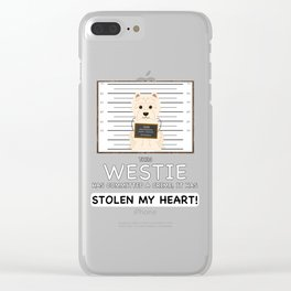 West Highland White Terrier Mugshot Clear iPhone Case