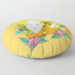 The Buddhist Monk Floor Pillow